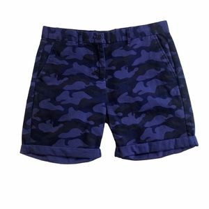 GAP BLUE CAMO BOY ROLLED SHORTS